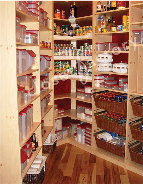 small walk in maple melamine pantry eclectic closet