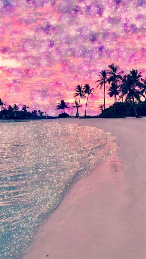 galaxy beach    purple sparkly wallpapers