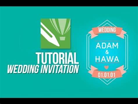 Coreldraw Wedding Invitation Tutorial tutorial corel draw wedding invitation
