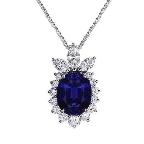 Blue Neckles blue sapphire necklace jewelry designs