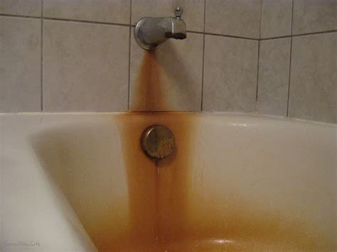 How To Clean Bathtub Stains by Is The Tub Supposed To Be Orange Some Site