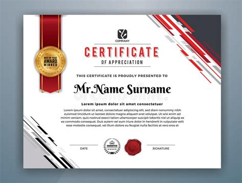 free professional certificate templates modern professional certificate template stock vector