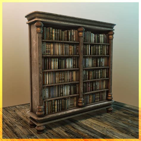 3d model book shelf bookshelf