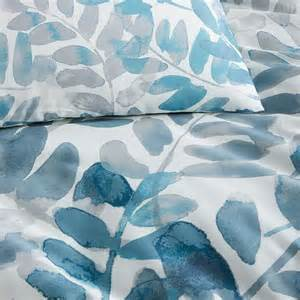 watercolor duvet 400 thread count organic watercolor fern sateen duvet