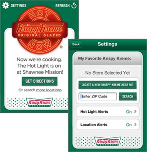 Krispy Kreme S Light App Tracks Fresh Supply For