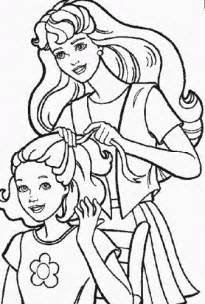 family fun barbie doll coloring pages coloring free barbie doll