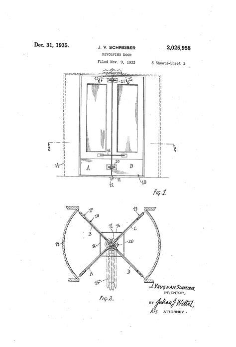 revolving door section patent us2025958 revolving door google patents