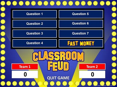Family Feud Powerpoint Game Template School Pinterest Classroom Family Feud And Classroom Classroom Powerpoint Templates