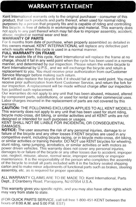 warranty statement template ridethisbike news and stories related to