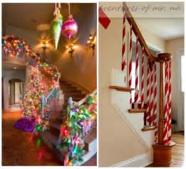 how to decorate a banister ways to decorate stairs for crafty morning
