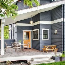 slate blue house slate blue white and black trim and bright door colors pinterest painted brick