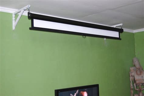 How To Mount A Projector Screen On The Ceiling by Projector Screen