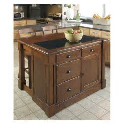 Kitchen Islands by Home Styles Aspen Granite Top Kitchen Island With Two