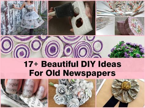crafts with newspaper for 17 beautiful diy ideas for newspapers