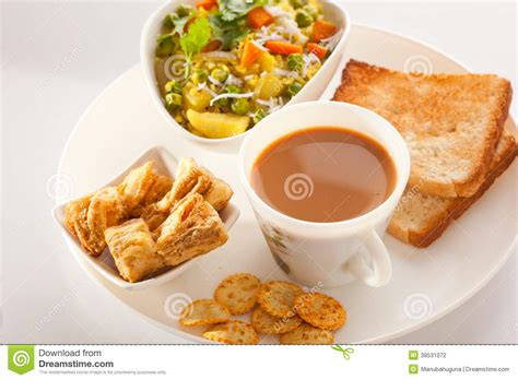 best tea for breakfast breakfast poha stock photography cartoondealer 36073670