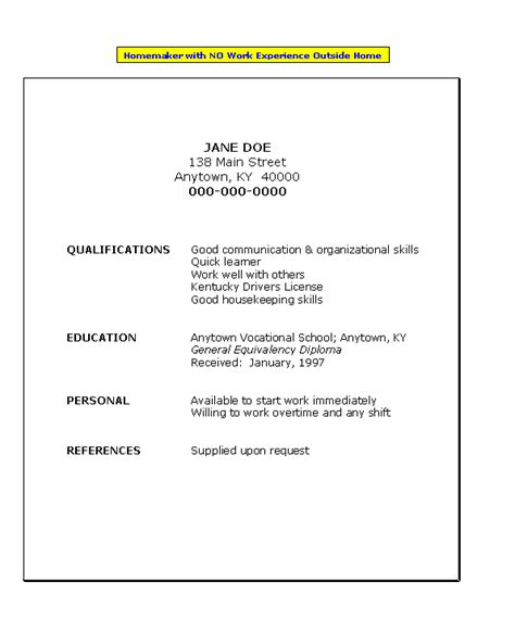 resume for high school student with no job experience resume for