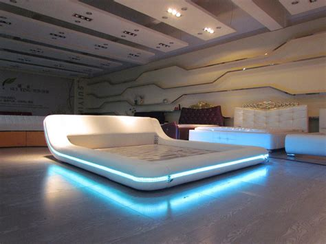 remote control bedroom l remote control contemporary modern leather led bed king