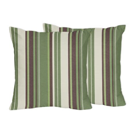 Brown And Green Throw Pillows green and brown ethan decorative accent throw pillows by sweet jojo designs set of 2 only 46 99