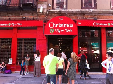 christmas store in little italy nyc new york pinterest