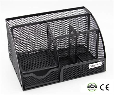 Mesh Desk Organizer Easypag Mesh Desk Organizer Desktop Pencil Holder Accessories Caddy With Drawer Black Buy