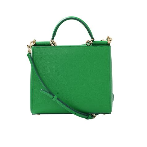 dolce gabbana small sicily shopping bag in green lyst