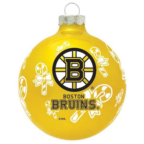 boston bruins nhl hockey glass christmas ornament holiday