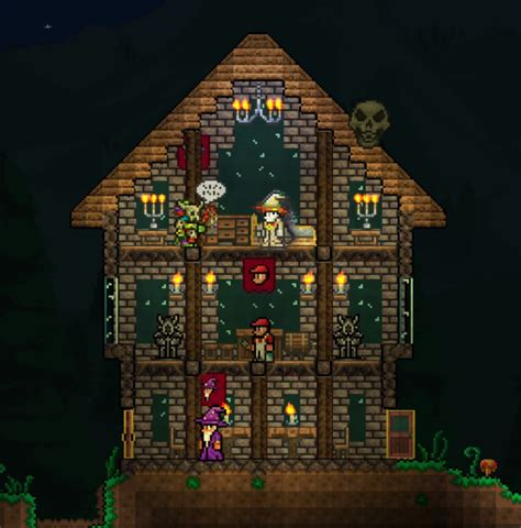 Derpling S Tavern House Design Terraria Community Forums House Layout Terraria
