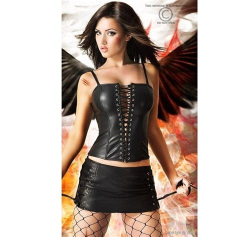 corsets bustiers leather lace up corset with skirt was