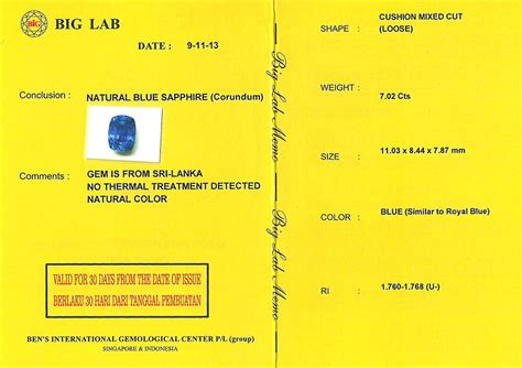 Sapphire Sri Lanka Memo Ring sparkling royal blue safir nh srilanka spc 147
