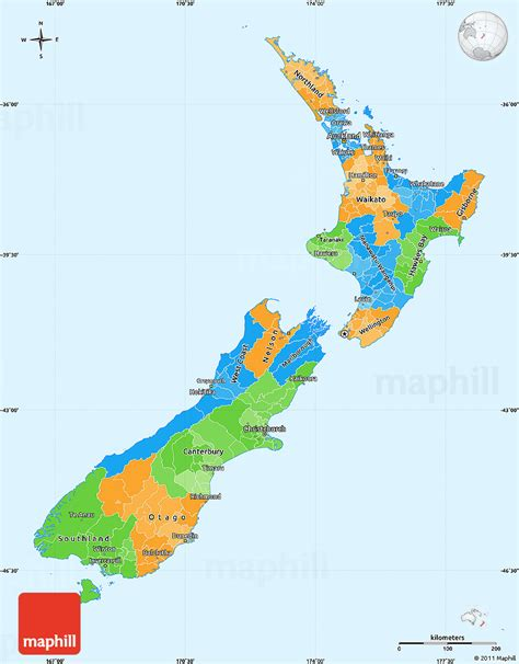 political map of new zealand political simple map of new zealand