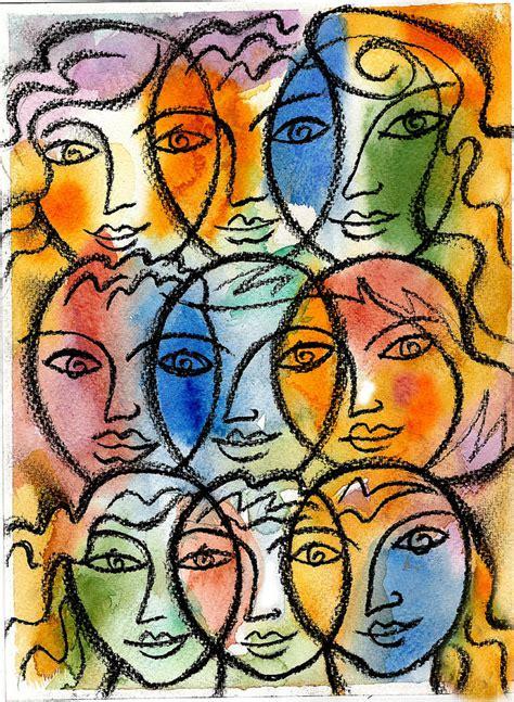 Buy Duvet Covers Diversity Painting By Leon Zernitsky