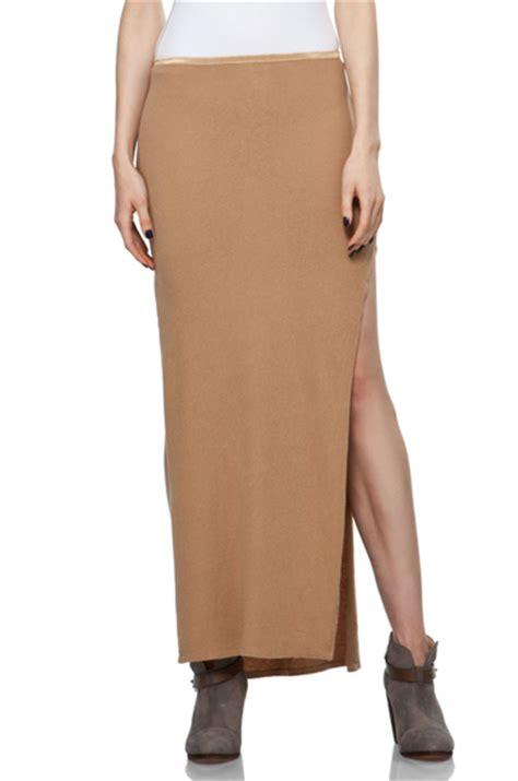 r13 khaki slit skirt 7 thigh high slit maxi skirts for