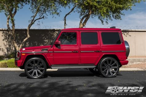 mercedes jeep 2016 matte black 2016 mercedes g class with 24 quot gianelle santoneo in