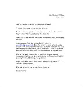 Complaint Letter Template by How To Write A Letter Of Complaint About Noisy Neighbours