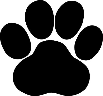 Paw Print Svg File Royalty Free For Vinyl Cutters Paw Print Silhouette