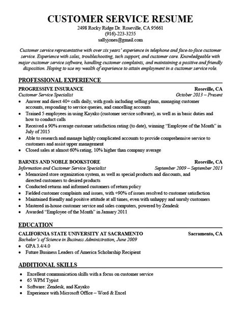 resume format for customer support combination resume sles resume companion