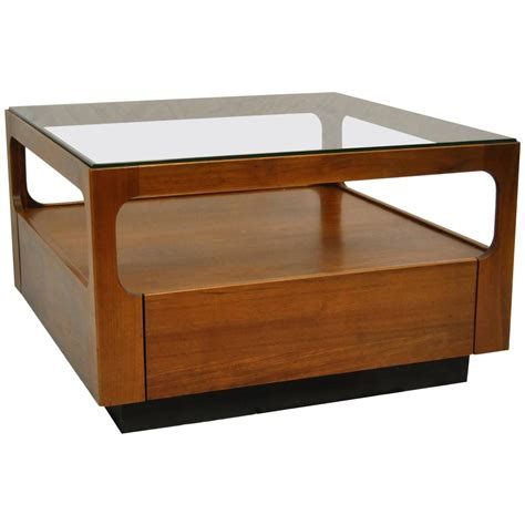 Brown Glass Coffee Table Midcentury Teak Glass Top Coffee Table Designed By Keal For Brown Saltman For Sale At 1stdibs