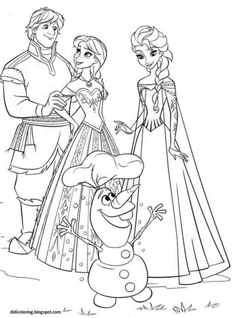 free coloring pages of frozen characters free printable walt disney characters frozen family elsa