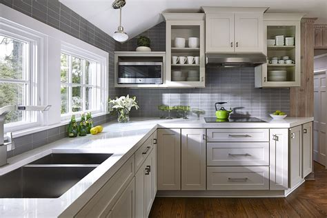 gray cabinets in kitchen kitchen design ideas remodel projects photos