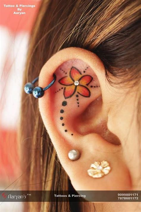 tattoo and piercings best 25 ear tattoos ideas on moon tatto
