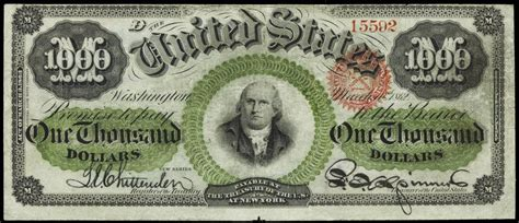 Who Makes The Paper For Us Currency - 1863 one thousand dollar tender note world banknotes