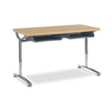 Virco Text Twin Student Desk Laminate Top Td24488yadjbb Student Desk On Sale