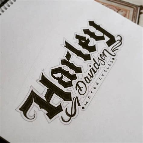 tattoo lettering harley tattoo font lettering on instagram