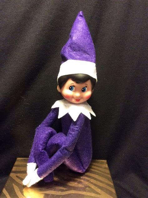printable elf on the shelf doll elf on the shelf rare purple plush elf girl doll look