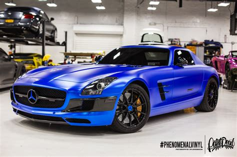 Interior Window Tinting Home by 2014 Sls Amg Gt In Satin Blue Chrome Phenomenalvinyl