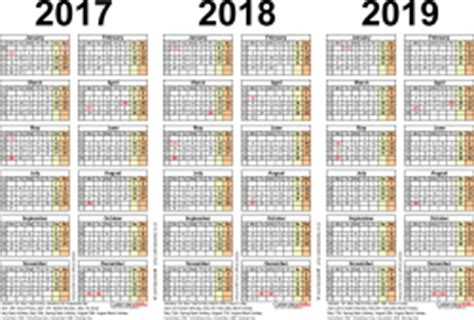 D300 Calendar Three Year Calendars For 2017 2018 2019 Uk For Word