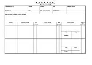 free risk assessment template blank risk assessment template besttemplates123