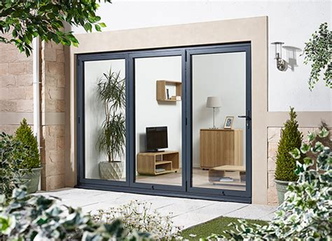 bifold doors aluminium grey folding patio doors
