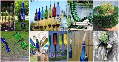Home Garden Decoration Ideas 12 Diy Glass Bottles Garden Decor