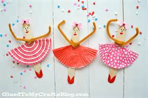 popsicle stick craft popsicle stick ballerinas kid craft glued to my crafts